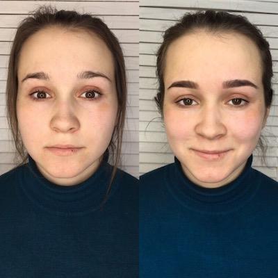 Работы учеников школы микроблейдинга Санкт-Петербург. перманентный макияж, пудовые брови